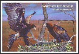 Tanzania Sc# 1710 MNH Souvenir Sheet 1998 Eagles - Tanzania (1964-...)