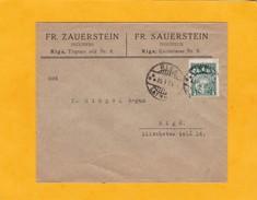 1934 - Lettonie - Enveloppe Professionnelle De Riga En Ville - Timbre à 4 S Vert Seul - Lettonie