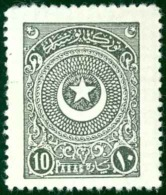 Turkey Sc# 615 MH 1923-1925 10pi Slate Crescent & Star - Unused Stamps