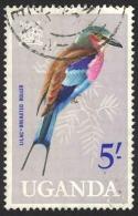 Uganda Sc# 108 Used 1965 5sh Birds - Uganda (1962-...)