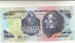 Uruguay Banconota 50 Nuevos Pesos Unc - Uruguay
