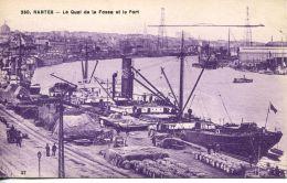 N°40420 -cpa Nantes -le Quai De La Fosse Et Le Port- - Commerce
