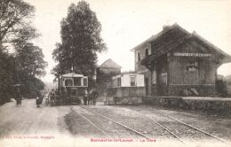 N°40427 -cpa Bonneville La Louvet -la Gare- RRR- - Stations With Trains