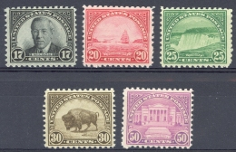 USA Sc# 697-701 MNH 1931 17c-50c Definitives