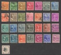 USA Sc# 803-832 Used 1938 1c-$1 Presidents