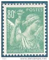 France -1944 - Type Iris 80c. Vert-jaune - Y&T N° 649 ** Neuf Luxe 1er Choix (gomme D´origine Intacte).