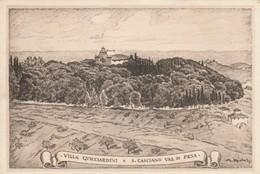 CARTOLINA ANNI 30 VILLA GUICCIARDINI - S.CASCIANO VAL DI PESA - FIRENZE (VP588 - Firenze