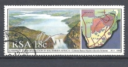 SUD AFRICA            1990 Co-operation In Southern Africa   USED    MAP  AND RIVER - Used Stamps