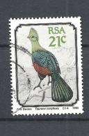 SUD AFRICA         1990 Birds              Tauraco Corythaix                USED - Usati