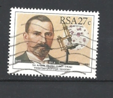 SUD AFRICA    1991 South African Scientists      Sir Arnold Theiler (Veterinarian)             USED - Used Stamps