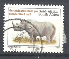 SUD AFRICA   1993 Endangered Fauna   LATIN INSCRIPTION    USED  Diceros Bicornis - Sud Africa (1961-...)