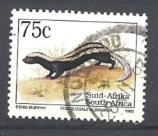 SUD AFRICA   1993 Endangered Fauna   LATIN INSCRIPTION    USED - Sud Africa (1961-...)