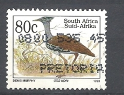 SUD AFRICA   1993 Endangered Fauna   LATIN INSCRIPTION    USED  Otis Kori - Sud Africa (1961-...)
