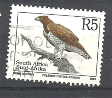 SUD AFRICA   1993 Endangered Fauna   LATIN INSCRIPTION    USED Polemaetus Bellicosus - Sud Africa (1961-...)