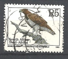 SUD AFRICA   1993 Endangered Fauna   LATIN INSCRIPTION    USED Polemaetus Bellicosus - Used Stamps