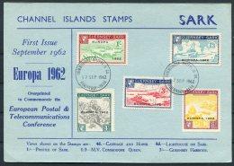 1962 Guernsey Sark Europa First Day Postcard - Guernsey