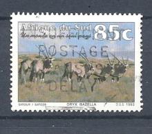 SUD AFRICA  -  1993 Tourism  Oryx Gazella   USED - Sud Africa (1961-...)