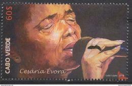 Cabo Verde 2016 -  Cesaria Evora Bataclan Paris Music Musik Mi. 1046  1 Val. MNH - Cap Vert