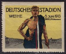 Athletics STADIUM Berlin Grunewald SPORT / 1913 Germany - Cinderella / Label / Vignette - MH