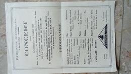 PATRONAGE JEANNE D' ARC AUXERRE - CONCERT - 12 OCTOBRE 1929 - INAUGURATION SALLE LECLERC DE FOUROLLES Maison Berthier - Programmes