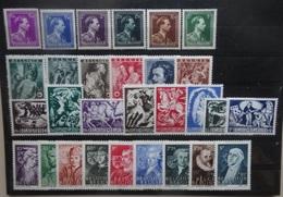 BELGIE   1943-44    Nr. 641 - 646 / 647 - 652 / 653 - 660 / 661 - 669       Postfris **          CW  29,00