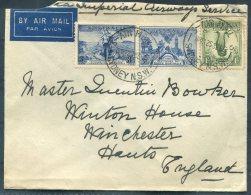 1937 Australia Sydney Imperial Airways, Airmail Cover - Winchester, England - Cartas