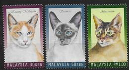 Malaysia 1999 N° 700/702 Neufs Avec Chats