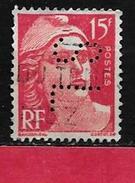 @ Perfin  Y&T  N° 813   Perfore  SL 132  Indice 3 - Gezähnt (Perforiert/Gezähnt)