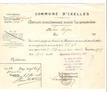 Quittance Datée 1906 De La Commune D'Ixelles Pour Somme Due à Malines 23,42 Frs C.Ixelles(Ch.d'Ixelles) 24/1/1906 PR4153 - 1900 – 1949