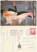 CARTOLINA VIAGGIATA 1988 MONTECARLO ANNULLO SPECIALE (VP600 - Monaco