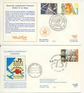 Trompet Envelop Nr. S73 En S74 (1988) - Periodo 1980 - ... (Beatrix)
