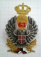 YUGOSLAV JNA 63. PARACHUTE BRIGADE BERET BADGE,VETERANS- PADOBRANCI,SRJ - Army