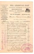 Facture-Factuur Datée De Mechelen 31/12/1905 De Lenaerts-D Graef Breukmeester PR4154 - 1900 – 1949