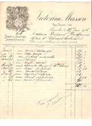 Facture Datée Du 27/1/1906 De Victorine Masson Corsets & Lingeries Bruxelles R.Royale 146 Pour Dame à Malines PR4155 - 1900 – 1949