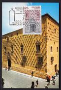 SPAIN 1991 MAXIMUM CARD. WORLD HERITAGE HOUSE OF THE CONCHAS SALAMANCA