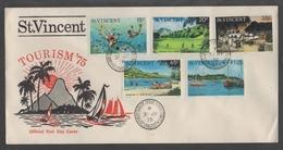 PLONGEE - TAUCHEN - SNORKELING / 1975 ST VINCENT FDC (ref 543a)