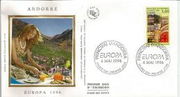 ANDORRA EUROPA 1996 (Ermessenda De Castellbò & Roger Bernat De Foix). FDC