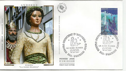ANDORRA EUROPA 1997 (Contes Et Légendes Andorranes).Géants De Sant Julia De Loria. FDC