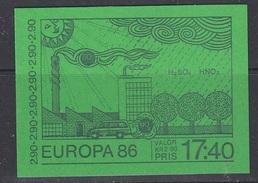 Europa Cept 1986 Sweden Booklet ** Mnh (35023)