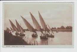EGYPTE - SAILING BOATS ON THE NILE