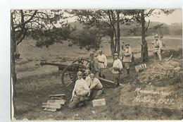 Militaire Carte Photo De Militaires En Manoeuvre A Bitche 1927 Canon - Manovre