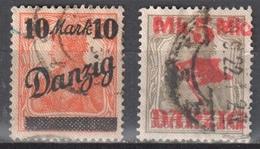 Danzig 1920 Mi 45 I, 46 I - Used - Gestempelt - Danzig
