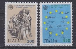 Europa Cept 1982 Italy 2v ** Mnh (35024)