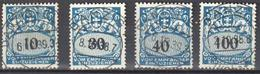 Danzig 1938 - Postage Due - Mi. 43-45,47 - 4v - Used - Gestempelt - Danzig