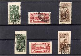 Russie 1925 - 20 éme Anniv De L'émeute De 1905  YT 348/53 Obl