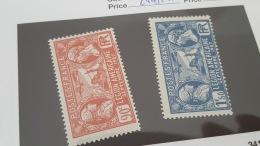 LOT 344325 TIMBRE DE FRANCE NEUF** N°244/245 VALEUR 12 EUROS