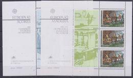 Europa Cept 1982 Azores &  Madeira 2 M/s ** Mnh (35025)