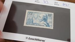 LOT 344380 TIMBRE DE FRANCE NEUF** N°313 VALEUR 45 EUROS