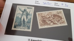 LOT 344381 TIMBRE DE FRANCE NEUF** N°314/315 VALEUR 20 EUROS