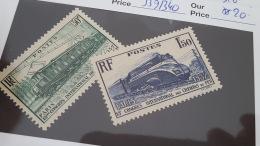 LOT 344393 TIMBRE DE FRANCE NEUF** N°339/340 VALEUR 20 EUROS